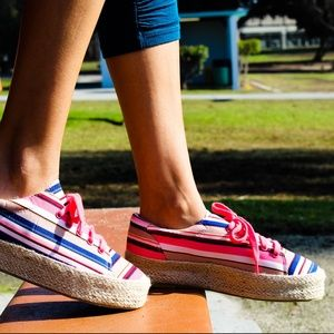 Shoes - 🆕// The Ray// Multi color lace up Espadrille